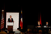 Michael Quinn Sullivan, president and CEO of Empower Texans, speaks on a panel with JoAnn Fleming and Jim Graham during the 2014 RedState Gathering at the Worthington Renaissance Hotel in Fort Worth, Texas on August 9, 2014. (Cooper Neill for The Texas Tribune)