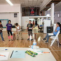 """Gallup Repertory Theater's Children's Theater Camp rehearsal, Tuesday, June 11. The Children's Theater Camp will perform William Shakespeare's """"Taming of the Shrew"""" June 21 and 22."""