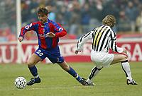 BOLOGNA, 22/02/2004<br />PARTITA DI SERIE A BOLOGNA-JUVENTUS 0-1<br />Tomas Locatelli (Bologna) and Pavel Nedved (Juventus)<br />FOTO CARLO BARONCINI/GRAFFITI
