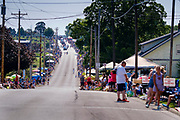 03 JULY 2021 - NORWALK, IOWA: The 4th of July parade starts in Norwalk, Iowa. Last year's parade was cancelled because of the COVID-19 pandemic. Norwalk is an agricultural community south of Des Moines. In recent years, Norwalk has become a suburb of Des Moines.        PHOTO BY JACK KURTZ