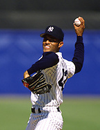 BRONX, NY - 1998:  Mariano Rivera of the New York Yankees pitches during an MLB game at Yankee Stadium during the 1998 season. (Photo by Ron Vesely)  Subject:   Mariano Rivera