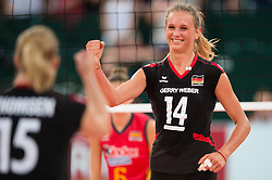 06.09.2013, Gery Weber Stadion, Halle, GER, Volleyball EM 2013, Deutschland vs Spanien, im Bild,, Jubel Margareta Kozuch (#14 GER) // during the volleyball european championchip match between Germany and Spain at the Gery Weber Stadion in Halle, Germany on 2013/09/06. EXPA Pictures © 2013, PhotoCredit: EXPA/ Eibner/ Kurth<br /> <br /> ***** ATTENTION - OUT OF GER *****