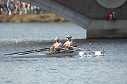 Boston, USA, Championship Women's double, CAN W2X  Rachel DeJONG and Janine HANSON, approach  the  John Weekes Bridge, during  the Head of the Charles, Race Charles River,  Cambridge,  Massachusetts. Saturday  20/10/2007 [Mandatory Credit Peter Spurrier/Intersport Images]..... , Rowing Course; Charles River. Boston. USA