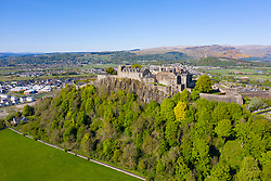 Elevated view of Stirling Castle, Stirling, Scotland, UK