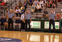 25 June 2011: Officials including Brian Schamburg (right) at the 2011 IBCA (Illinois Basketball Coaches Association) boys all star games.