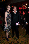 KEELEY HAWES; PHILIP GLENISTER, Specsavers Crime Thriller Awards.  Award ceremony celebrating the best in crime fiction and television. <br /> Grosvenor House Hotel, Park Lane, London. 21 October 2009