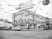 Ackroyd 00363-3. United Finance Co. December 9, 1947. Building on northeast corner of Grand & East Burnside. Building still there with modernized facade