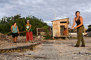 American Crocodile Research (Crocodylus acutus)<br /> San Perdo <br /> Ambergris Caye<br /> Belize,<br /> Central America