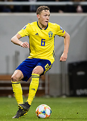 March 23, 2019 - Stockholm, SWEDEN - 190323 Ludwig Augustinsson of Sweden during the UEFA Euro Qualifier football match between Sweden and Romania on March 23, 2019 in Stockholm. (Credit Image: © Andreas L Eriksson/Bildbyran via ZUMA Press)