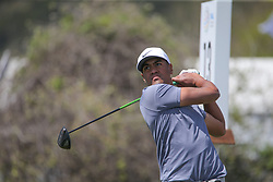 March 21, 2018 - Austin, TX, U.S. - AUSTIN, TX - MARCH 21: Tony Finau (USA) hits from the 13th tee during the First Round of the WGC-Dell Technologies Match Play on March 21, 2018 at Austin Country Club in Austin, TX. (Photo by George Walker/Icon Sportswire) (Credit Image: © George Walker/Icon SMI via ZUMA Press)