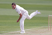 Ed Nuttall of Canterbury bowls. Canterbury vs. Central Districts Day 1, 1st round of the 2021-2022 Plunket Shield cricket competition at Hagley Oval, Christchurch, on Saturday 23rd October 2021.<br /> © Copyright Photo: Martin Hunter/ www.photosport.nz