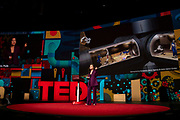 Jamie Paik speaks at TED2019: Bigger Than Us. April 15 - 19, 2019, Vancouver, BC, Canada. Photo: Bret Hartman / TED