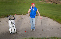HAARLEM - Illustratie! - Golfer zoals het niet hoort. COPYRIGHT KOEN SUYK