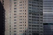 Brick apartment buildings in Manhattan, New York City.