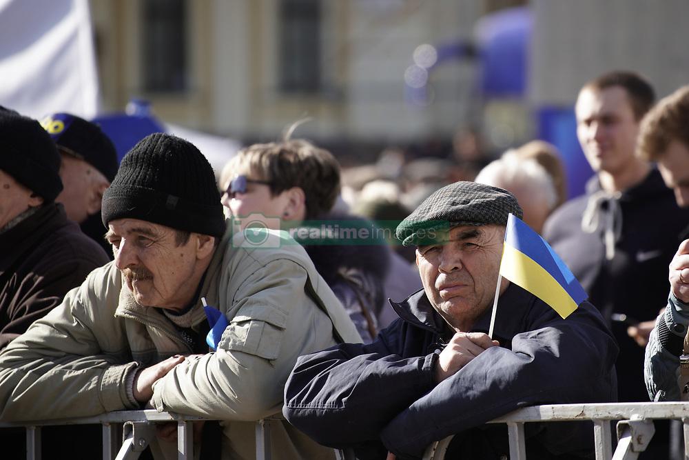 March 29, 2019 - Kiev, Ukraine - People are awaiting presidential candidate Yulia Tymoshenko during an election rally in Kyiv, Ukraine on March 29, 2019. (Credit Image: © Jaap Arriens/NurPhoto via ZUMA Press)