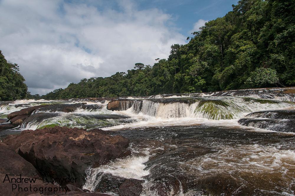 Rapids above the waterfall. Potaro River, Guyana.