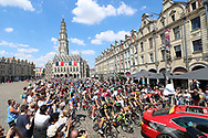 The peloton passes the beautifull marketplace of Arras on their way to Roubaix during the 105th Tour de France 2018, Stage 9, Arras Citadelle - Roubaix (156,5km) on July 15th, 2018 - Photo George Deswijzen / Proshots / ProSportsImages / DPPI