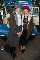 © Licensed to London News Pictures. 05/11/2017. London, UK. LOUISE MINCHIN and CAROL KIRKWOOD and  takes part at the Hyde Park start of the annual Bonhams London To Brighton Veteran Car Run. Photo credit: Ray Tang/LNP