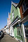 Old shop fronts, Market Hill, Woodbridge, Suffolk, England
