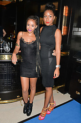 Left to right, MELISSA STEEL and VICTORIA JACK at the Maybelline New York: Party, part of the London Fashion Week Spring Summer 15 held at Tredwell's, 4a Upper St Martins Lane, London on 12th September 2014.