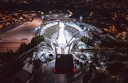 THEMENBILD - der Holmenkollbakken in der norwegischen Haupstadt am Abend im Kunstlicht, aufgenommen am 08. Maerz 2019 in Oslo, Norwegen // of the Holmenkollbakken in the Norwegian capital City in the evening in artificial light, Oslo, Norway on 2018/03/08. EXPA Pictures © 2019, PhotoCredit: EXPA/ JFK