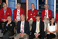 28 August 2006: Soccer Hall of Fame Class of 2006 - front row (l to r) Philip Anshutz, Al Trost, Alexi Lalas, Carla Overbeck. The National Soccer Hall of Fame Induction Ceremony was held at the National Soccer Hall of Fame in Oneonta, New York.