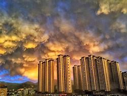 August 16, 2017 - Fuzhou, Fuzhou, China - The sky looks unreal before storm comes in Fuzhou, southeast China. (Credit Image: © SIPA Asia via ZUMA Wire)