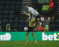 Preston North End's Andrew Hughes  battles with  Millwall's Jed Wallace<br /> <br /> Photographer Mick Walker/CameraSport<br /> <br /> The EFL Sky Bet Championship - Preston North End v Millwall - Saturday 15th February 2020 - Deepdale Stadium - Preston<br /> <br /> World Copyright © 2020 CameraSport. All rights reserved. 43 Linden Ave. Countesthorpe. Leicester. England. LE8 5PG - Tel: +44 (0) 116 277 4147 - admin@camerasport.com - www.camerasport.com
