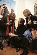 Virginia Verran, Colin Jones and Jane Dixon, Hunter S Thompson: Gonzo -Michael Hoppen Gallery, London, SW3, Photographs of, and by Hunter Thompson.1 February 2007.  -DO NOT ARCHIVE-© Copyright Photograph by Dafydd Jones. 248 Clapham Rd. London SW9 0PZ. Tel 0207 820 0771. www.dafjones.com.