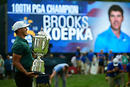 Brooks Koepka(USA) celebrates winning the 100th PGA Championship at Bellerive Country Club, St. Louis, Missouri.<br /> Picture Tom Russo / Golffile.ie<br /> <br /> All photo usage must carry mandatory copyright credit (© Golffile | Tom Russo)