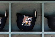 The batting helmet of Miguel Cabrera #24 of the Detroit Tigers sits in the dugout before a game against the Minnesota Twins on September 29, 2012 at Target Field in Minneapolis, Minnesota.  The Tigers defeated the Twins 6 to 4.  Photo: Ben Krause
