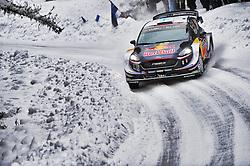 February 15, 2018 - Suede - Elfyn Evans (GBR) -  Daniel Barritt (GBR) - Ford Fiesta WRC (Credit Image: © Panoramic via ZUMA Press)
