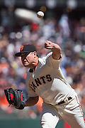San Francisco Giants starting pitcher Matt Moore (45) pitches against the Arizona Diamondbacks at AT&T Park in San Francisco, Calif., on August 31, 2016. (Stan Olszewski/Special to S.F. Examiner)