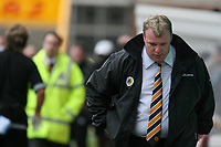 Photo: Pete Lorence.<br />Boston United v Wycombe Wanderers. Coca Cola League 2. 28/10/2006.<br />Boston Manager, Steve Evans, is sent from the pitch after obstructing the game.