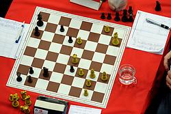 18-01-2009 SCHAKEN: CORUS CHESS: WIJK AAN ZEE<br /> Schaakbord schaak item <br /> ©2009-WWW.FOTOHOOGENDOORN.NL