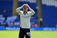 Ross McCormack of Fulham looks on.Skybet football league championship match, Cardiff city v Fulham at the Cardiff city stadium in Cardiff, South Wales on Saturday 8th August  2015.<br /> pic by Andrew Orchard, Andrew Orchard sports photography.
