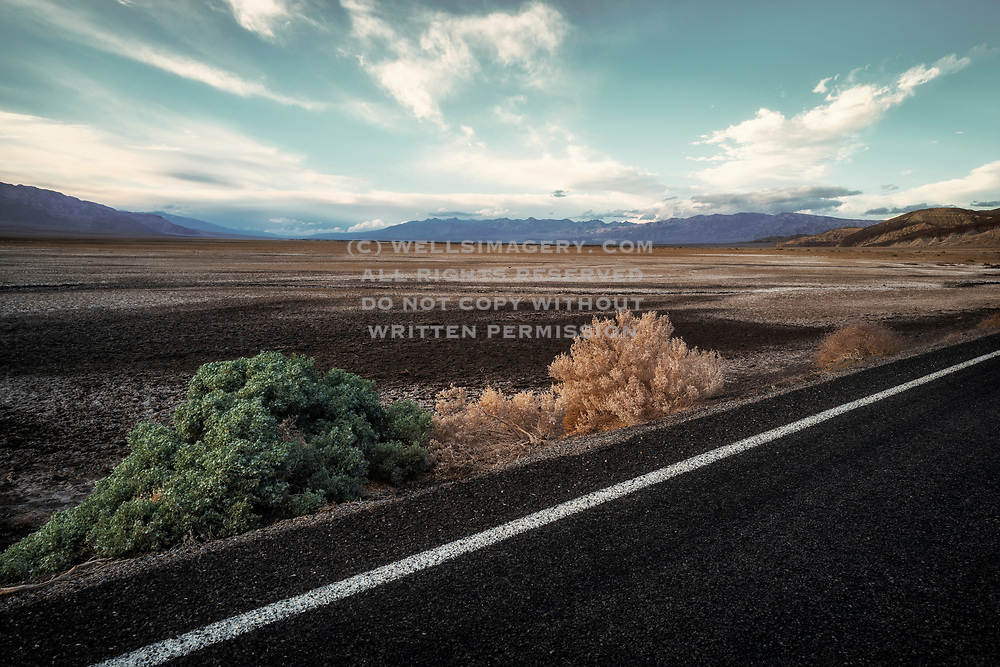 Image of a road near Badwater Basin, Death Valley National Park, California, America west coast by Randy Wells