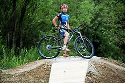 Tanja Zakelj (SLO) of professional MTB Unior Tools Team during opening of Bike Park Ljubljana on June 16, 2015 in Ljubljana - Podutik, Slovenia. Photo by Vid Ponikvar / Sportida