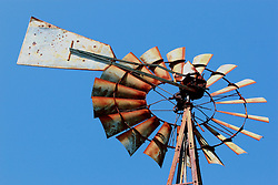 26 August 2008:  the turbine part of an old western style windmill This image available for EDITORIAL USE ONLY. A release may be required. Additional information by contacting alook at alanlook.com