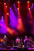 3 August 2017 – Brooklyn, NY. Singer Nellie McKay opened for Béla Fleck and the Flecktones to a large crowd at the BRIC Celebrate Brooklyn! Festival at the Prospect Park Bandshell. The Flecktones on stage.