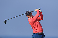 Geoff Lenehan on the 1st tee during Round 4 of The West of Ireland Open Championship in Co. Sligo Golf Club, Rosses Point, Sligo on Sunday 7th April 2019.<br /> Picture:  Thos Caffrey / www.golffile.ie
