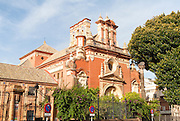 Eighteenth century church building of Iglesia de San Jacinto, Triana, Seville, Spain