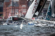 Image licensed to Lloyd Images<br /> The Extreme Sailing Series 2015. Act4 - Cardiff.UK<br /> Team Turx skippered by Mitch Booth<br /> Credit: Lloyd Images