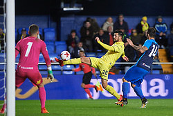 November 30, 2017 - Vila-Real, Castellon, Spain - Roberto Soriano of Villarreal CF and Rios Reina of SD Ponferradina during the Copa del Rey, Round of 32, Second Leg match between Villarreal CF and SD Ponferradina at Estadio de la Ceramica on november 30, 2017 in Vila-real, Spain. (Credit Image: © Maria Jose Segovia/NurPhoto via ZUMA Press)