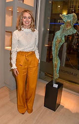 Cressida Bonas at a private view of recent work by Georgiana Anstruther held at the Sladmore Gallery, 32 Bruton Place, London England. 08 November 2018. <br /> <br /> ***For fees please contact us prior to publication***