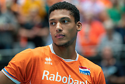 11-08-2019 NED: FIVB Tokyo Volleyball Qualification 2019 / Netherlands - USA, Rotterdam<br /> Final match pool B in hall Ahoy between Netherlands vs. United States (1-3) and Olympic ticket  for USA / Fabian Plak #8 of Netherlands