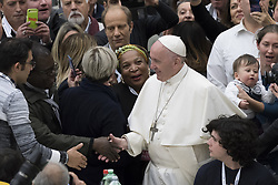 November 18, 2018 - Vatican City, Vatican - Pope Francis is offering several hundred poor people, homeless, migrants, unemployed a lunch on Sunday 18th November 2018 in Vatican City  as he celebrates the World Day of the Poor. (Credit Image: © Massimo Valicchia/NurPhoto via ZUMA Press)