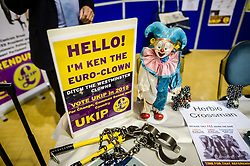 Ken the Euro-clown at the Ukip annual conference, Bournemouth.