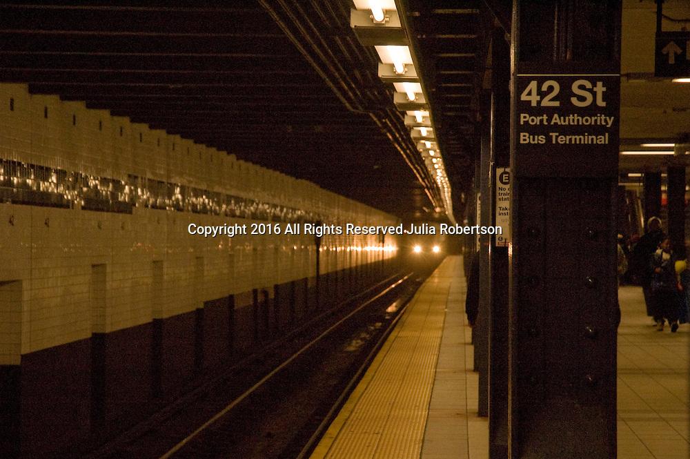 Color Photos of New York City<br /> Subway platform, train and tracks New York City Subway System, Tracks and platform, Trains, Maps Underground