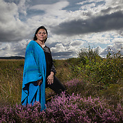 THE writer of the best-selling Outlander books, Diana Gabaldon in Culloden. Picture Robert Perry 22 Aug 2014
